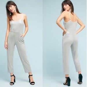 Anthropologie Stretchy Sequin Embellished Jumpsuit